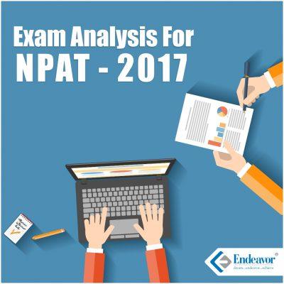 Exam Analysis NPAT 2017