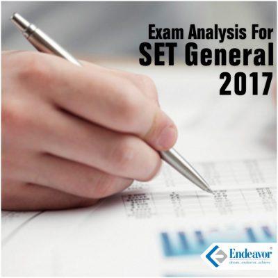 Exam Analysis: SET 2017