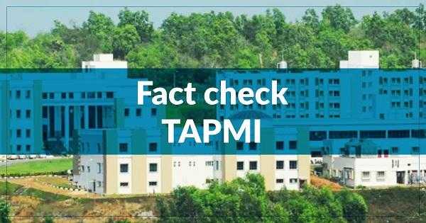 TAPMI Fact Check