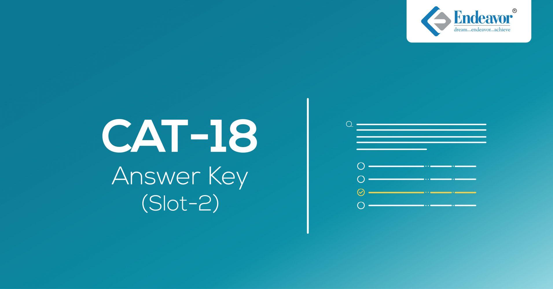CAT 2018 Answer Key