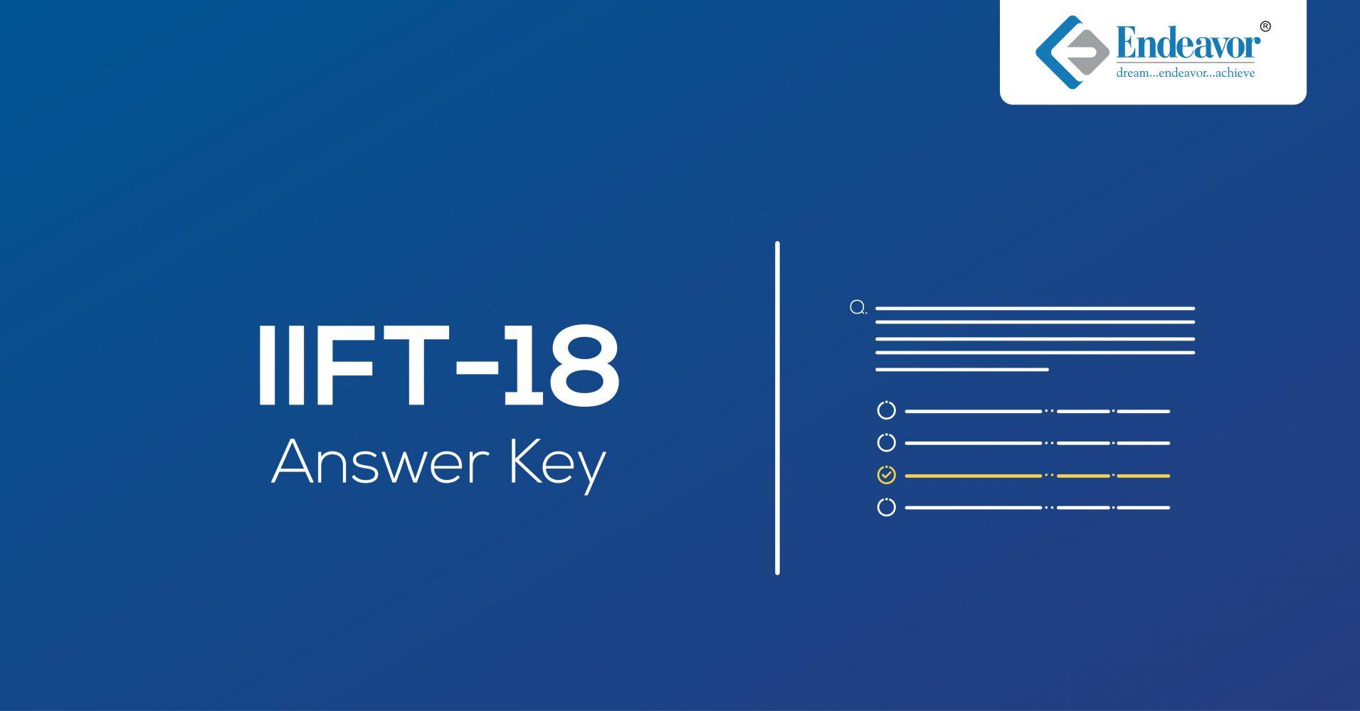 IIFT 2018 Answer Key