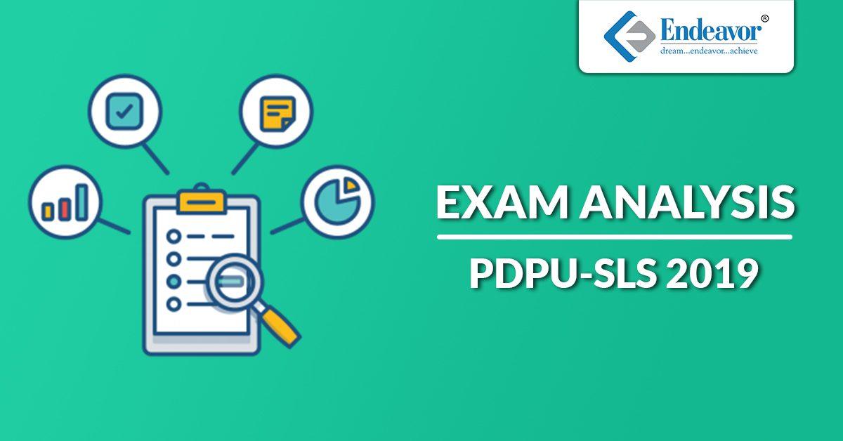 PDPU SLS 2019 Exam Analysis