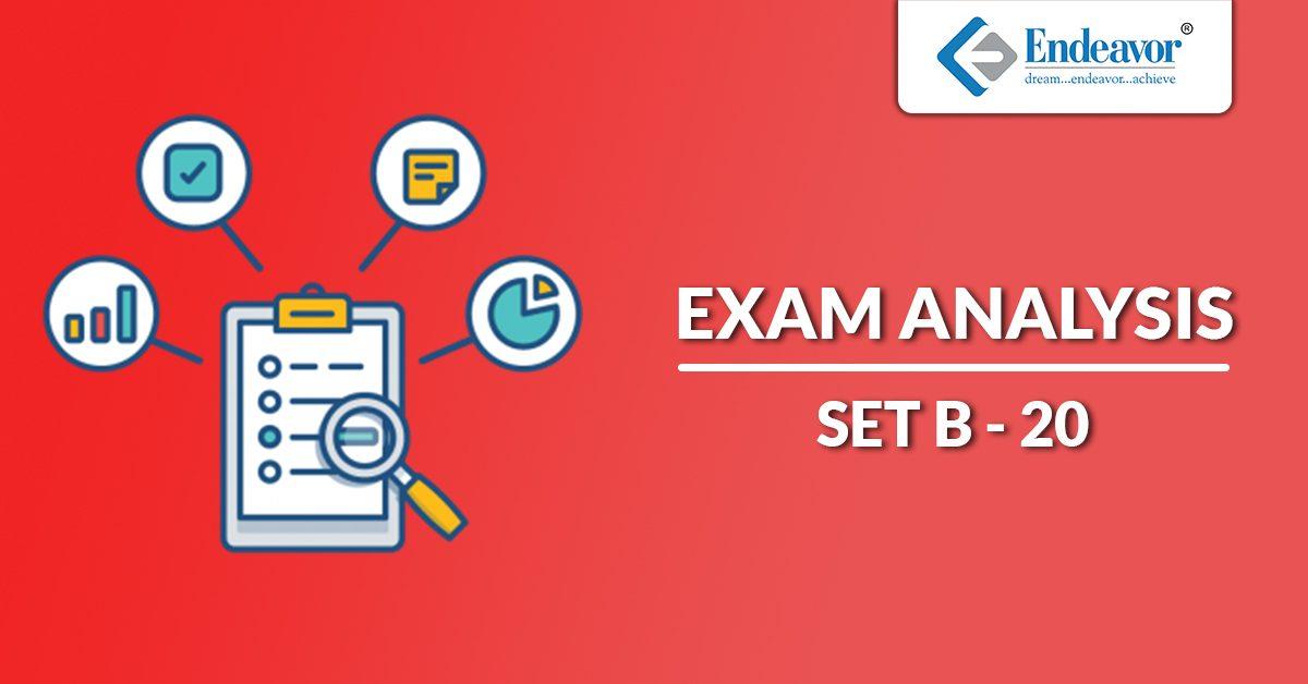 SET B 2020 Exam Analysis